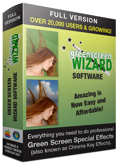 Green Screen Wizard Software Full Version offers the latest in green and BLUE screen software power and control behind an amazingly simple and accessible user interface. It provides professional photographers, as well as photography enthusiasts, a simple way to do green screen removal and substitutes their choice of digital background. Green Screen Wizard is a self-contained chroma key removal program that does not require Photoshop or other photo editing application to produce beautiful green screen photos. Learn more now and try a free demo!
