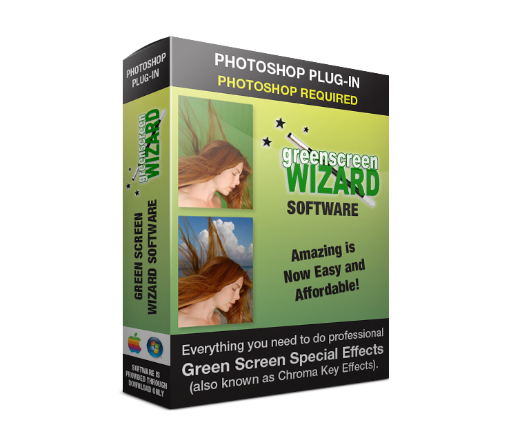 "Green Screen Wizard Photoshop Plug-in offers the same green screen software power but it is encased in a Photoshop plug-in. It provides professional photographers a green and BLUE screen solution inside of Photoshop. The unique ""Three Layer System"" makes it easy to edit your Green Screen Image. And as a plug-in, you can take advantage of all of the Photoshop editing capabilities. In addition Photoshop can read and save many more file formats than Green Screen Wizard standalone. Learn more now and try a free demo version!"